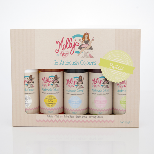 Molly's Airbrush Pastel Shades Multipack 5x100g