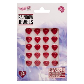 Rainbow Jewels - Hearts Red Shimmer