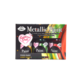 Paint Metallic 3-Pack (Light Gold, Holly Green, Red)