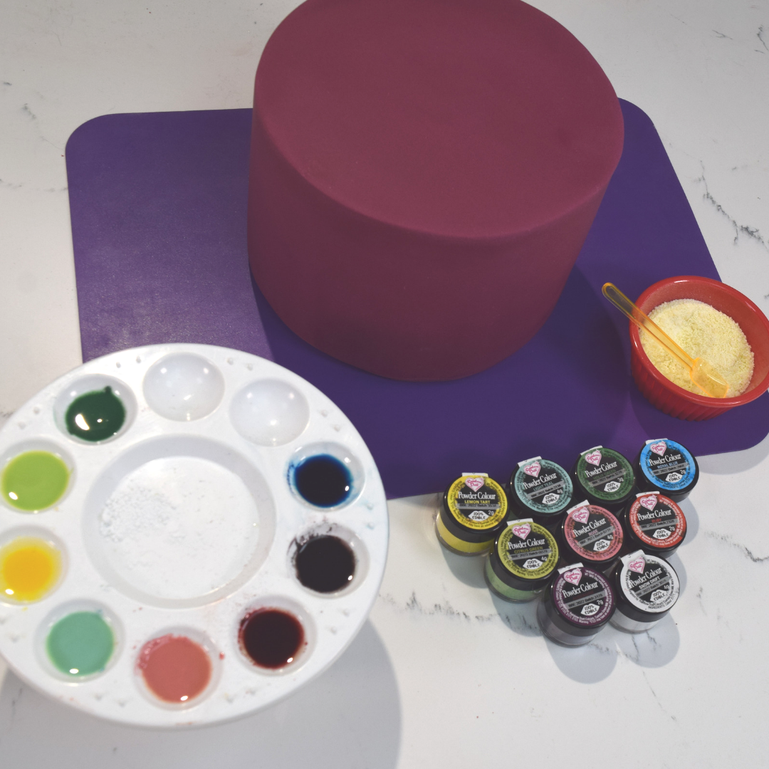 Mixing Powder Colour with cocoa butter